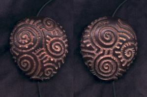 Spiral Bean Pendant by DonSimpson