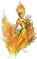 Fire Elemental by FlamSlade