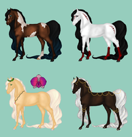 3/4 Available   Horse Adoptables   Batch #1 by Not-a-Sock-Wearer