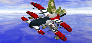 LEGO Crimson Skies - Devastator in Flight by Aryck-The-One