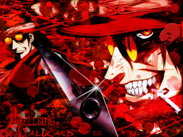 Hellsing - Bloody Wallpaper by PsyBear