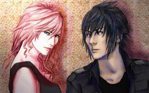 FFXIII: King and Queen by delusionaldrawer