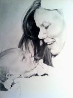 WIP 3: Mother and Child Commission by emueller