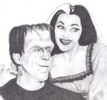 Lilly and Herman Munster by HeathersVisualDesign