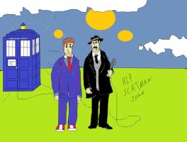 Doctor Who and Scatman John by Aetherartist