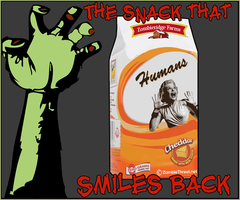 Humans, The snack that smiles back! by Wormchow