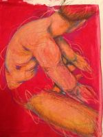 Seated figure study in red by sedgeboi