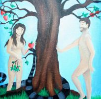 Adam and Eve by girlngreen7
