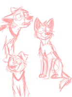 Dog Quick sketches by Fuzzydice07