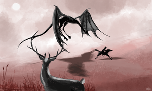 Prompt day 15 - Great hunt for the dragon by ZiryAlex