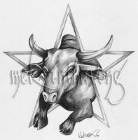 Taurus Tattoo by disdaindespair