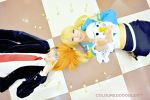 [Cosplay] Fairy Tail - Loke Zakado and Moena by SSJSonGotenZ