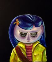 Coraline with Button Eyes by Temporalvisions