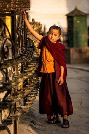 Buddhist Boy by cwaddell