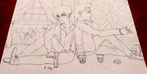 91 Days : Avilio and Nero [WIP] by TheKikkaKibaz