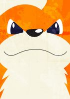 Growlithe No.058 by Godlesswanderer