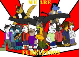 WE ARE FURRYPINOS xD by shepFURd-DoG