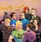 Avengers's Halloween Party by Mushstone