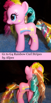 G1 to G4 Rainbow Curl Stripes Custom Pony by Alipes