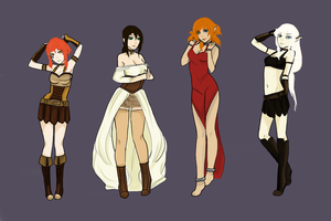 Dragon Age Ladies by Aeonathenne