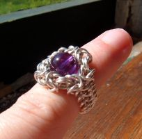 Amethyst Ring by chainmaille
