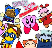 Kirby 20th Anniversary! by Nintooner