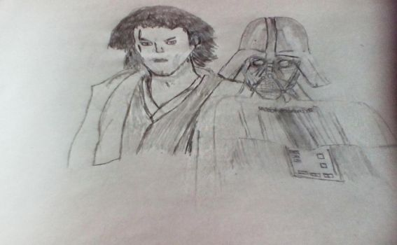 Vader and Anakin by Fizban29013