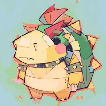 Baby Bowser by michaelfirman