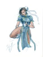 Chun-Li - Sketch by StephenSchaffer