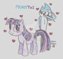 MordiTwi: Mordecai and Twilight Sparkle by CelmationPrince