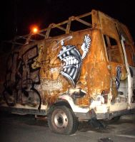 spray burned van by gojoabbestia