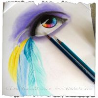 WIP New version of Feathered eye by WitchiArt