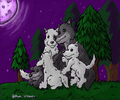 Family Under the Full Moon by SpectralPresence