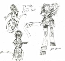 Thiidda - Remodel, Basic Ref. Sheet + Backstory by Faullyn