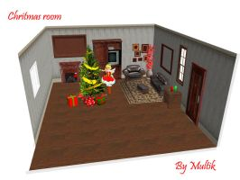 MMD Accessory Xmas Room by innaaleksui