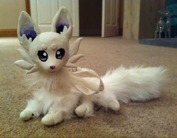 :Posable Doll: Arctic Fox Ammy by AmethystCreatures
