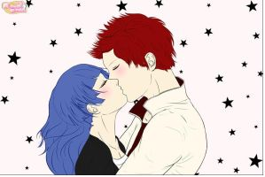 Scaret And Soul Fire Kissing by magictimeymare12