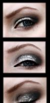 Black and silver prom makeup by aurelia87