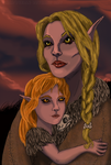Mother and Daughter by Sharquelle
