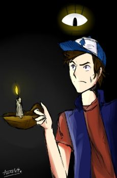 Dipper Pines- Gravity Falls by Aomelette