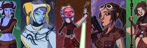 Women of Star Wars III by JoeHoganArt