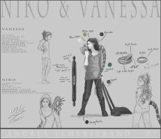 Vanessa and Niko - character by Noukah