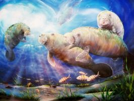 Magical Manatees by vernnicoli