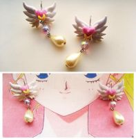Sailor Moon Inspired Magical Earrings by mayumi-loves-sora
