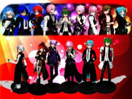 Some of the guys in vocaloid~ by ChEsHa-NeKo1358