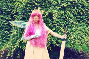 Child of Light Aurora and  Igniculus by Its-Raining-Neon