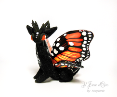 Cesar, Monarch Butterfly dragon by rosepeonie