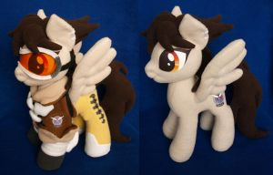 Tracer from Overwatch ponyfication plushie by adamar44