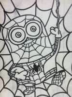 Despicable Me Minion Spider Man Outline by sampson1721
