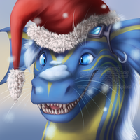 Blue Santa by Bluehasia